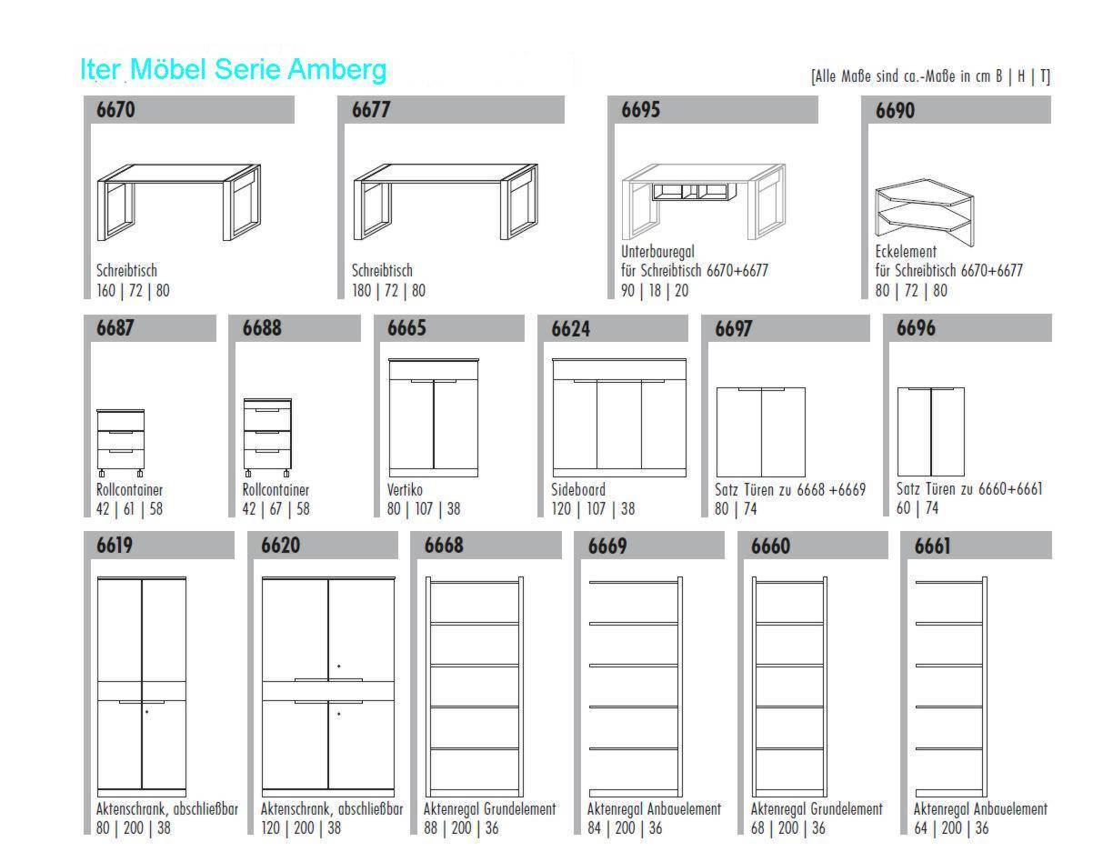 Kernbuche-BüroMöbel | Aktenschrank | ITER® Möbel