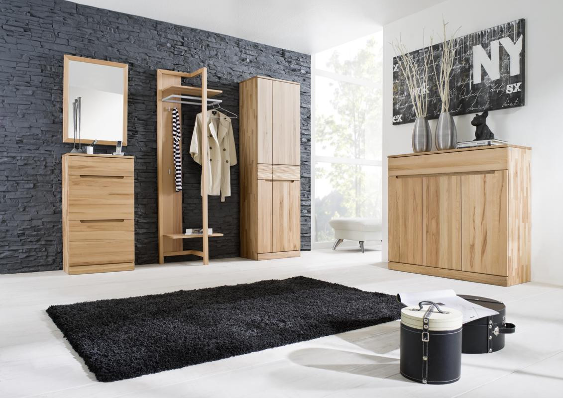 schuhklappschrank kernbuche dielenm bel online kaufen. Black Bedroom Furniture Sets. Home Design Ideas