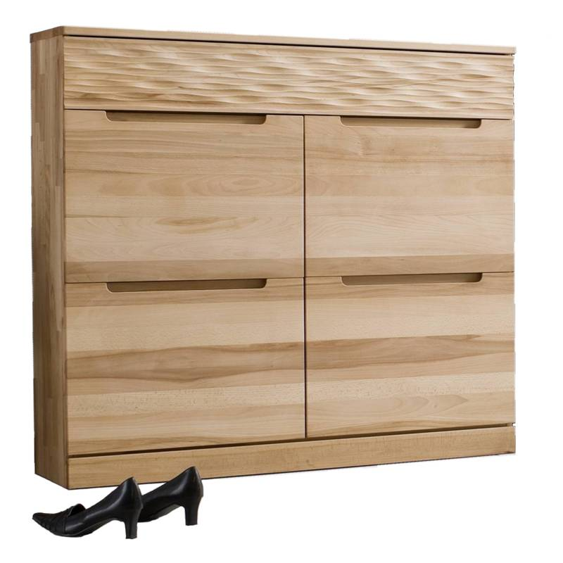 schuhschrank kernbuche massiv m bel online kaufen. Black Bedroom Furniture Sets. Home Design Ideas