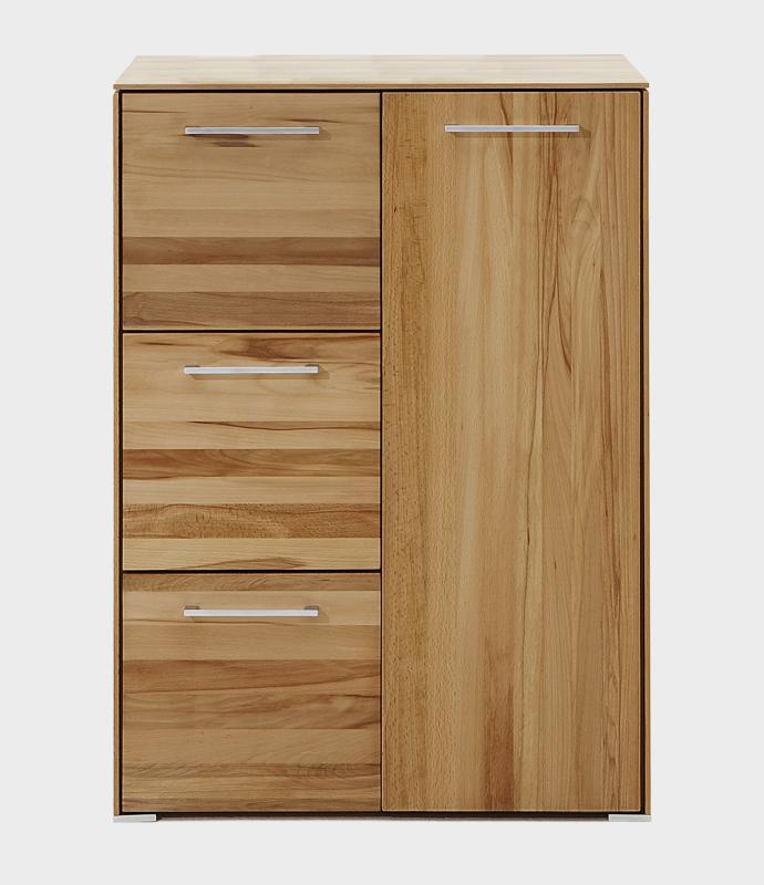Kommodenschrank mit 3 Schubladen und einer massiv Tür aus massiven kernbuchenholz