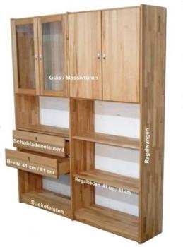 Büromöbel Kernbuche massiv Holz
