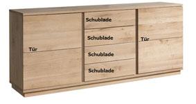 Sideboard Eiche hell | Limburg4100